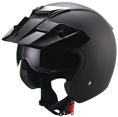 Jethelm Helm Motorradhelm Rollerhelm RETRO RALLOX 723 schwarz matt Größe L