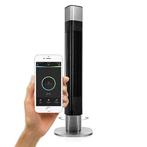 Princess Ventilatore a Torre Smart, 50 watt, 103 cm, Compatibile con Alexa, Google Home e applicazione HomeWizard