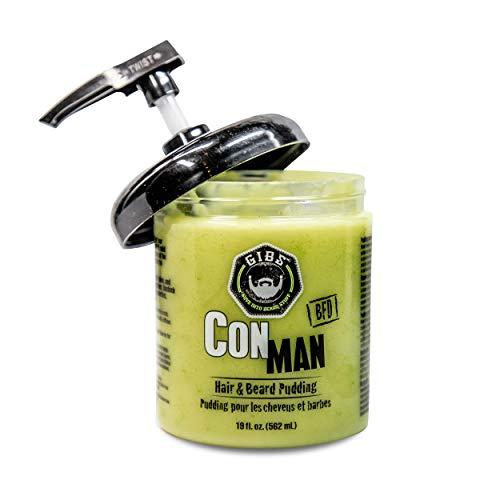 GIBS Grooming Con Man Hair & Beard Pudding, 19 Fl Oz