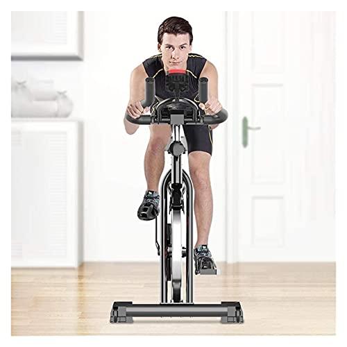 Bicicleta interior, bicicleta de ejercicio unisex, con resistencia a la velocidad, equipo de acondicionamiento físico de pérdida de peso, bicicleta de ejercicios de oficina en casa ( Color : Black )