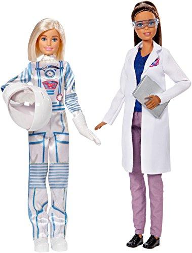 Barbie Quiero Ser Astronauta y científica, muñecas con accesorios (Mattel FCP65)