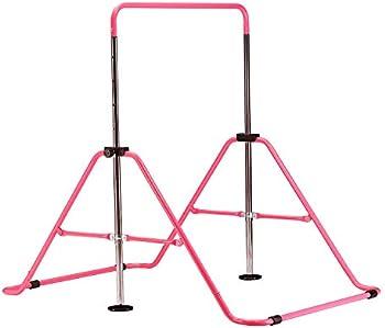 Zenova 5 Levels Height Adjustable Kip Foldable Gymnastics Bar for Kids