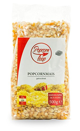 Popcornloop Heimkino-Set inkl. Rührstab, 1x Ersatzhaube, 1x Premium Popcorn Mais 500g - 2