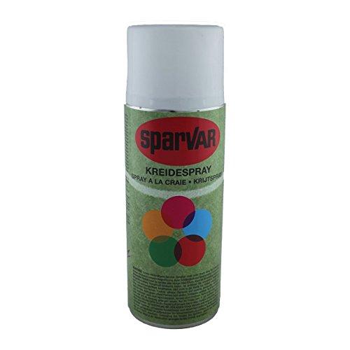 SparVar 6001135 Kreidespray mit Überkopfdüse, 400 ml, weiß