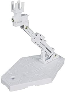 Yvetti Action Figure Display Base Stand DIY Assembly Adjustable Action Figure Model Holder Bracket Display Shaft Support for Gundam RG HG SD BB 1/144 White