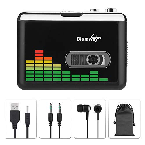 BlumWay Cassette to MP3 converter, portable cassette player via USB Drive,...