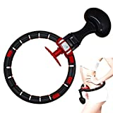 Jackallo Hoola Hoops for Adults Smart Counting Detachable Hoops Adjustable Hula Tire Beginners Thin Waist Weight Loss Fitness Waist Training Hoops for Youth Adults Ladies Gym Exercise