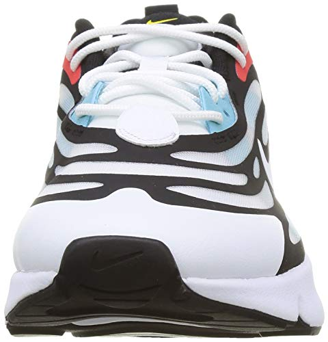Nike Air MAX EXOSENSE, Zapatillas para Correr Hombre, White White Black Chile Red Speed Yellow Bleached Aqua, 42 EU