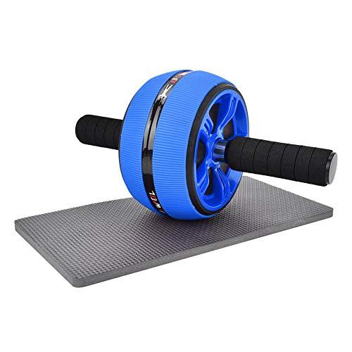 Tbest Ab Roller Wheel, Ab Trainner Abdominal Wheel Roller Übung Fitness Ab Rollers für Workouts Ab Wheel Trainingsgeräte für das Heim-Fitnessstudio(Blau Schwarz)