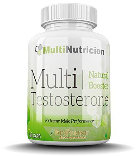 Multi Testosterone | Testosterona Natural| Bioperine® Fenogreco Tribulus D-aspartico Ashwagandha Citrulina| (180)