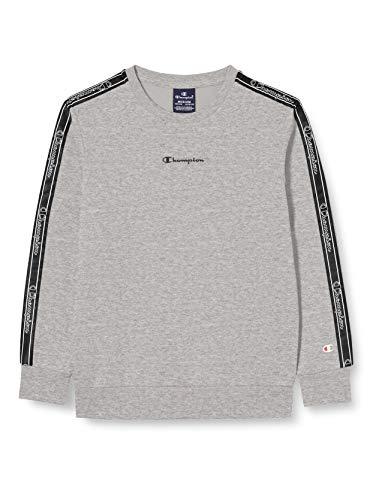 Champion Mädchen Boys' Seasonal Tape Sweatshirt, Grau (Em006), Large