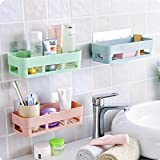 Spaces saving:this space saver will make full use of space in your room ,as well as make your room look clean and tidy Easy to install: wall mounted includes all parts for installation, no drill and screw required, super adhesive wall stickers Could ...