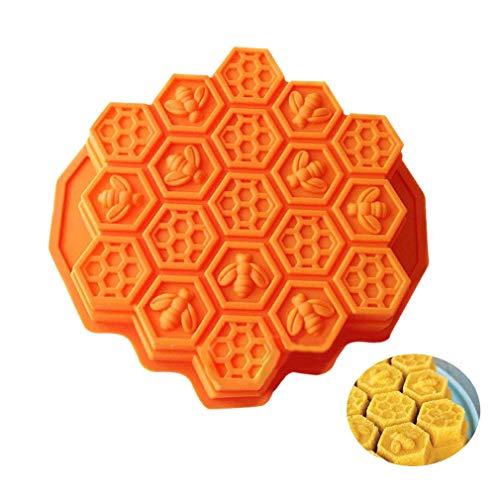 puissant Shuda 1 Pc Type de gâteau Nid d'abeille en silicone Type de gâteau Savon artisanal,…