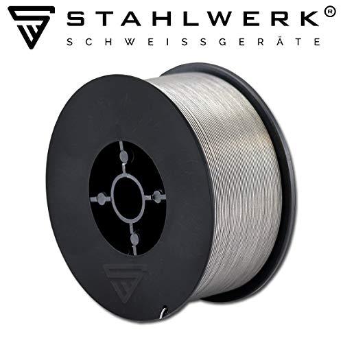 STAHLWERK MIG/MAG Fülldraht Ø 0,8 mm, FLUX Schweißdraht E71T-1C, auf 1kg D100 Rolle mit 16mm Dorn, universell einsetzbar