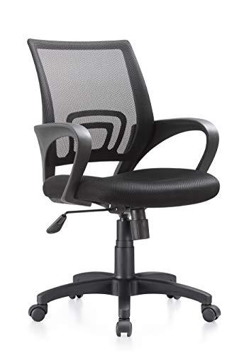 I SEATING silla oficina ejecutiva con soporte lumbar silla escritorio para computadora silla gamer ergonomica silla oficina Black Jack