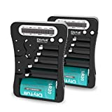 2 Pack Battery Tester with LCD Display, Dlyfull Universal Multi Purpose Small Battery Checker for AA AAA C D 9V CR2032 CR123A CR2 CRV3 2CR5 CRP2 1.5V/3V Button Cell Batteries