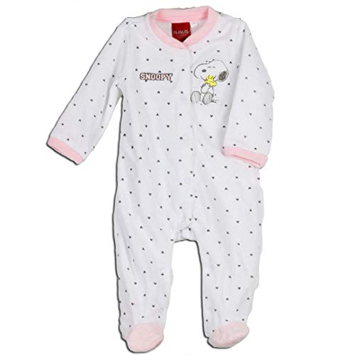 DITEXMED Schlafanzug Snoopy Baby Kinder, 5507-W031012-ROSA-6M, Pink, 5507-W031012-ROSA-6M 6 Monate