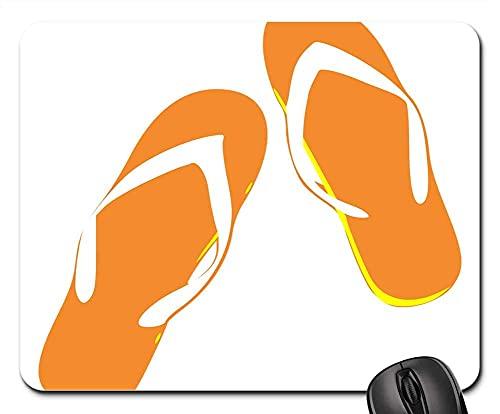 Mauspad Tangas Flip Flops Sandalen Orange Summer Beach Gaming Mausmatte Anti Rutsch Gummiunterseite Multifunktionales Gaming Mousepad Ultradünner Mausunterlage Für Laptop/Pc, 25X30 Cm