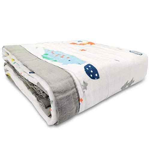 SaponinTree Mantas Swaddle Bebé, 120x150 cm Grande Mantas de Muselina Unisex Muselinas para Bebes Recién Nacidos, Toalla De Baño Bebe, Envoltura de Muselina Mantas