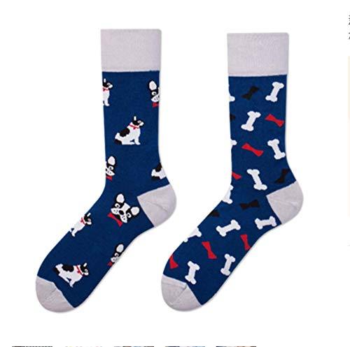 GL SUIT Unisex Leuke Jurk Sokken Kleurrijke Funky Sokken voor Kinderen Fancy Nieuwigheid Grappig Patroon Casual gekamd Katoenen Sokken Mid Asymmetrische AB Sokken Ouder-Kind Sokken