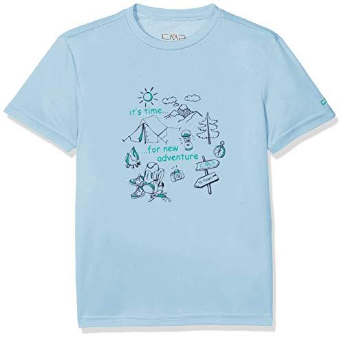 CMP Jungen T-shirt, Blau (Glass), 176
