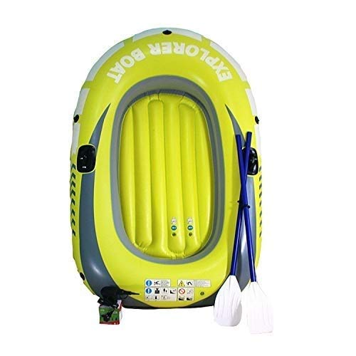 GUOE-YKGM Kayak Schlauchboot Faltkajak Outdoor Beiboot Komfortable Kajakfahren Freizeit Faltboot 1-2 Personen Schlauchboot Marine Sport Angeln Abenteuer Dicke PVC Kunststoff 190 * 115 cm Gelb