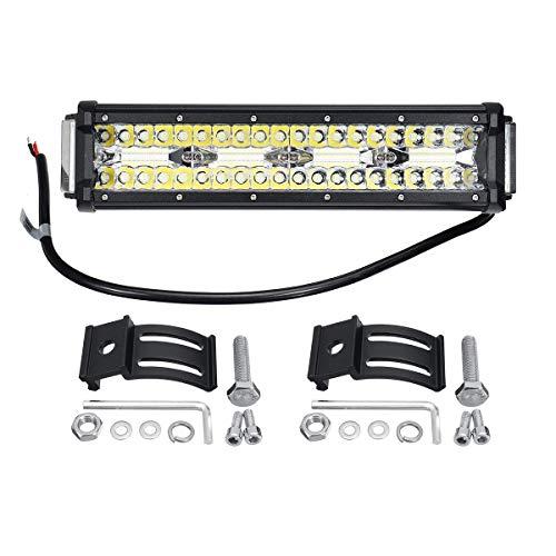 Luz de búsqueda marina, LED Quad-Fila Luz de trabajo Barra de inundación del punto de la lámpara de conducción de camión 4WD Por Off-Road Marina caravana de motos Camión 10V-32V 96W 12 pulgadas