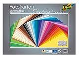 Folia- Cartoncino Fotografico Mix 50 x 70 cm, 300 g/m Fogli Assortiti in 50 Colori – Bas...