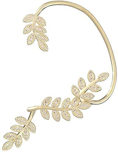 YAYY EIN Paar Fairy Elf Manschettenohrringe Gold eingelegt mit glänzenden Zirkon Hypoallergene Ohrringe Wickelohrmanschetten für Frauen und Mädchen Upgrade