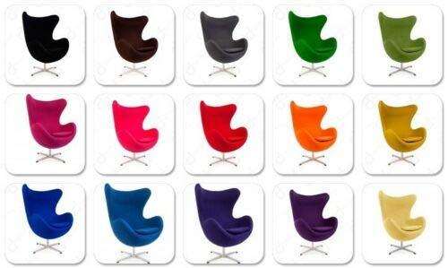ElleDesign - Sillón de lana de cachemira, basculante, giratorio, color a elegir