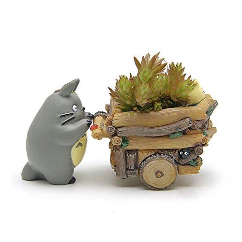 MATECam - Pot Totoro en résine pour fleurs, plante grasse ou cactus - Avec trou pour évacuer l'eau - Décoration d'intérieur