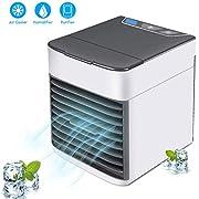 3 in 1 Mini Air Cooler,Amicool Luftkühler, Klimaanlage, Luftbefeuchter, Luftreiniger, tragbarer Lüfter mit 3 Geschwindigkeiten USB-Aufladung, leise und kompakt