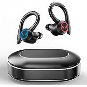 Bluetooth 5.1 Kopfhörer Sport, Kabellose kopfhörer In Ear IPX7 Wasserdicht Wireless Earbuds Ohrhörer CVC8.0 Noise Cancelling, USB-C, Deep Bass, Sport Kopfhörer Joggen Fitness mit Ladebox Mikrofon