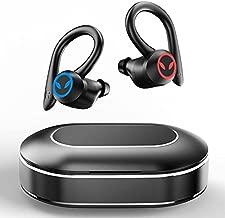 Wireless Earbuds, Motast Bluetooth 5.1 Headphones Sports Bluetooth Earbuds with Mic Earhooks Wireless Earphones in Ear with USB-C Charging Case, Deep Bass, IPX7 Waterproof Headset for Running/Gym