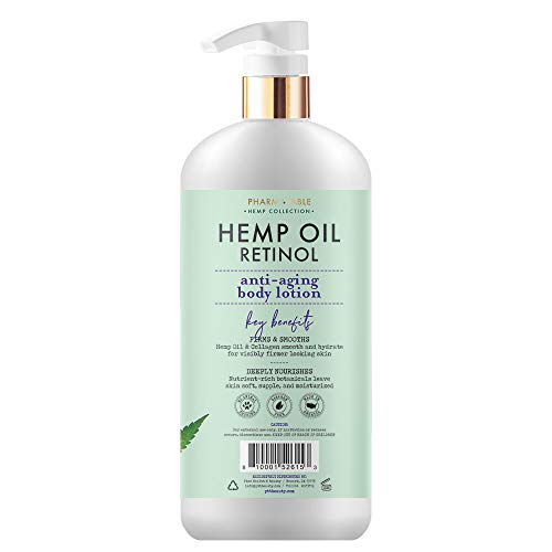 Hemp Body Lotion Retinol Anti-Aging 32oz / 960ml by Pharm to Table