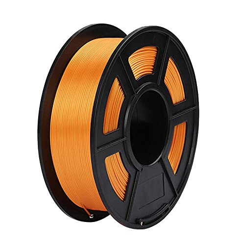 PLA Silk 3D Printer Filament, Dimensional Accuracy +/- 0.02 mm, 1 kg Spool, 1.75 mm, Good Gloss-Orange