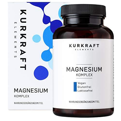 Kurkraft Premium Magnesium Komplex (240 Kapseln) - Citrat + Oxid (50/50) - 360mg elementares Magnesium in nur 2 Kapseln - Einführung - ohne Zusatzstoffe - Vegan - Sorgfältig hergestellt in Deutschland