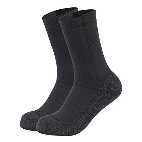 tellaLuna Calcetines de neopreno de aleta de buceo, de 3 mm para mujeres y hombres, calcetines térmicos de playa, flexibles para esnórquel, surf, buceo XL