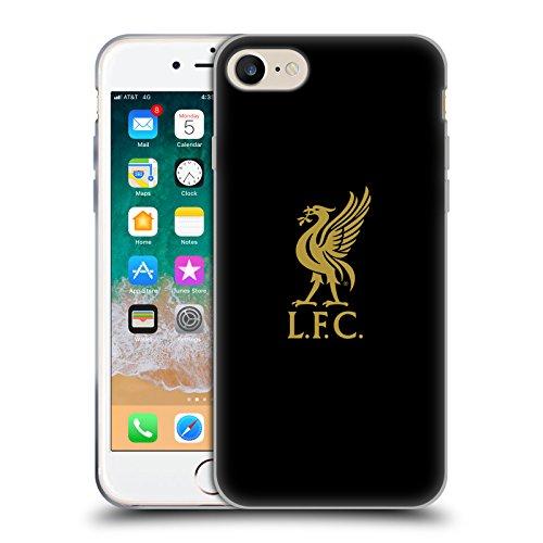 Head Case Designs Offizielle Liverpool Football Club Logo Gold Und Schwarz Liver Bird Soft Gel Handyhülle Hülle Huelle kompatibel mit Apple iPhone 7 / iPhone 8 / iPhone SE 2020