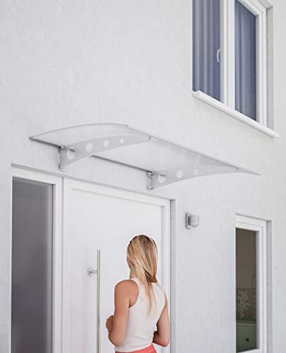 Schulte deurluifel Lyra 3, 120 x 80 cm, getoogd dubbelwandige polycarbonaat, dragers RVS, cirkel, V1227-30-40