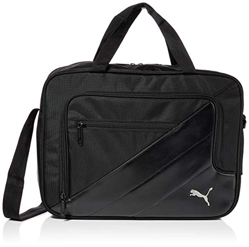 PUMA TEAM Messenger Bag Tasche, black, 41 x 30 x 14 cm