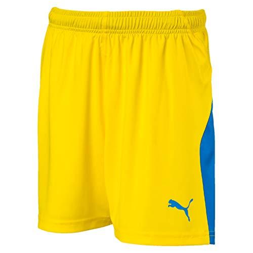 PUMA Kinder Liga Shorts, Cyber Yellow/Elec.Blue, 128