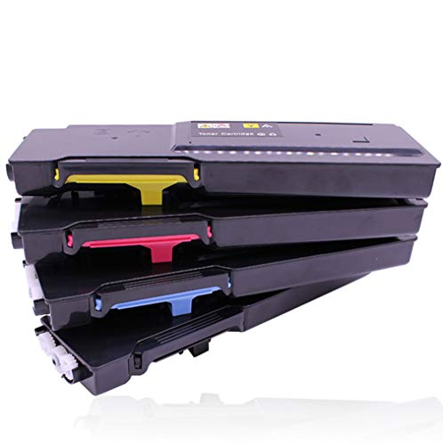 C3760 Toner Cartridge,Compatible with DELL C3760N C3760DN C3765DNF Color Laser Printer Toner Cartridge,4 colors