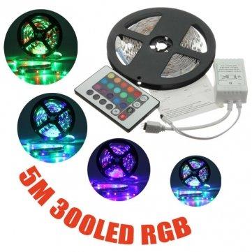 5m 3528SMD RGB no–impermeable al agua 300LED Light Strip 12V DC