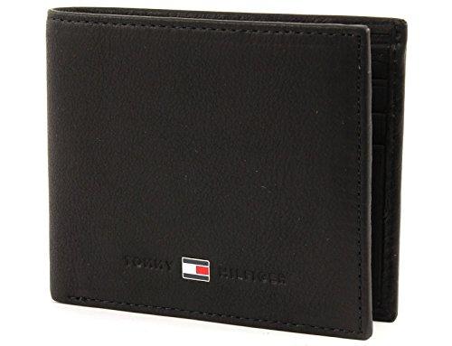 Tommy Hilfiger Johnson Mini CC Wallet, Cartera Hombre^Mujer, Black, OS