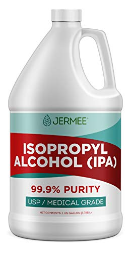 Jermee Isopropyl Alcohol (IPA) 99.9% Purity - USP/Medical Grade - Concentrated Rubbing Alcohol, Cleaner & Disinfectant, Made in The USA, 1 Gallon