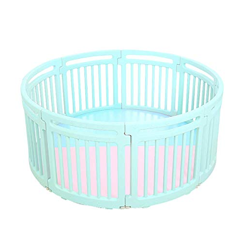Buy Baby/Child Plastic Playpen Round 8PC Portable Panels Room Divider Kids Barrier for Indoor and Ou...
