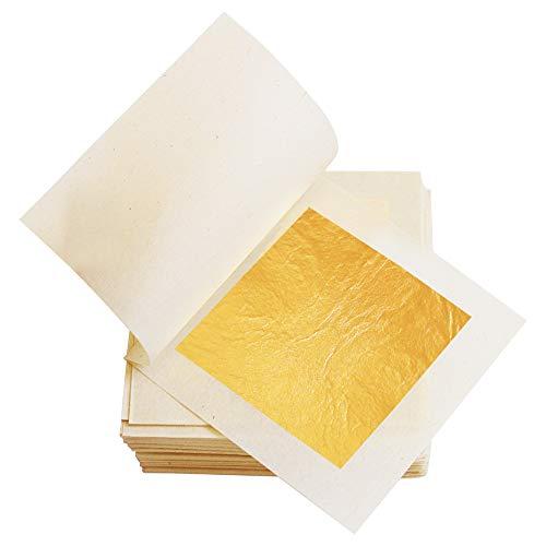 Yongbo - Hojas de Oro Comestibles de 4,33cm de Hoja de Oro...