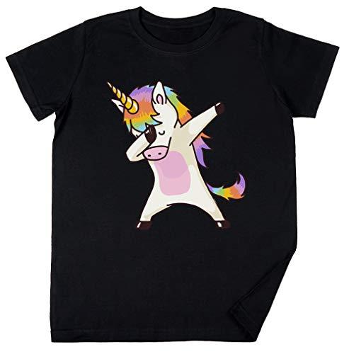 Vendax taponando Unicornio Camisa Cadera Salto Salto Pose Niños Chicos Chicas Unisexo Camiseta Negro