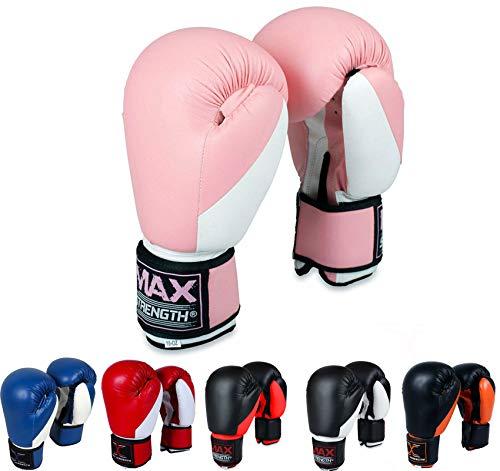 Max Strength Gants de Boxe Rose/Blanc (340,2 g)